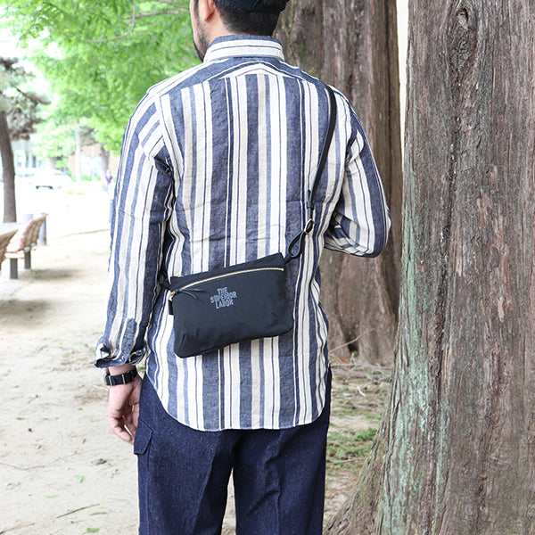 THE SUPERIOR LABOR TRAVEL SACOSHE CORDURA FABRIC x LEATHER 3 COLORS MADE IN JAPAN