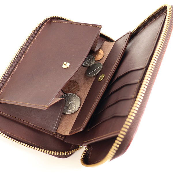 THE SUPERIOR LABOR <br>CORDOVAN ZIP MIDDLE WALLET  <BR>2 COLORS <br>MADE IN JAPAN <br>長財布 <BR>