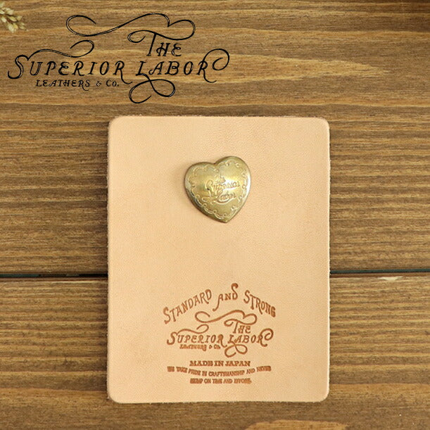 THE SUPERIOR LABORSuperior Labor BRASS PINS TYPE-D HEART MOTIF MADE IN JAPAN