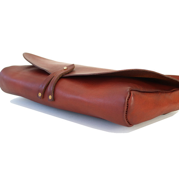 VASCO LEATHER 3 WAY CLUTCH BAG COW HIDE CAMEL MADE IN JAPAN