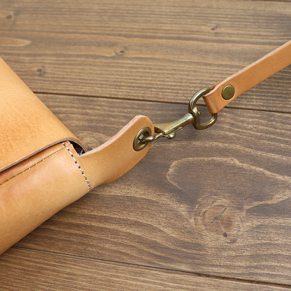 VASCO LEATHER 3 WAY CLUTCH BAG COW HIDE NATURAL MADE IN JAPAN