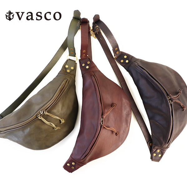 VASCO LEATHER WAIST BAG SMALL SIZE CALFSKIN 3 COLORS MADE IN JAPAN