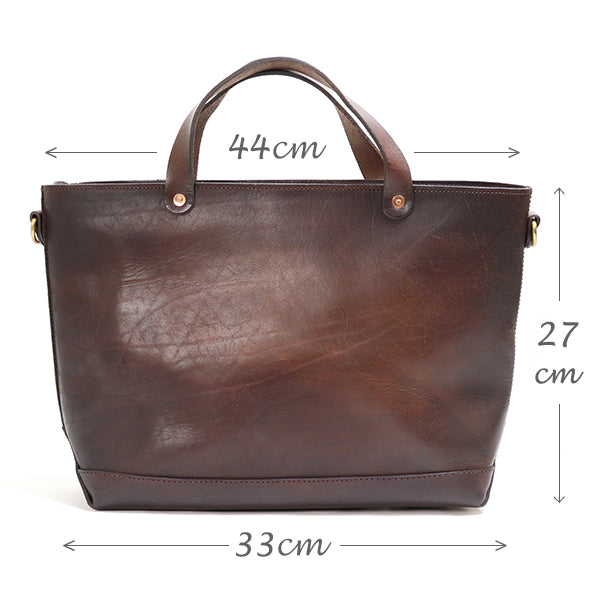 VASCO <br>LEATHER 2WAY TRAVEL TOTE BAG <BR>BROWN <BR>MADE IN JAPAN <BR>