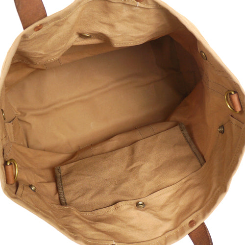 VASCO CANVAS x LEATHER TOOL BAG BEIGE PARAFFIN CANVAS LARGE SIZE MADE IN JAPAN