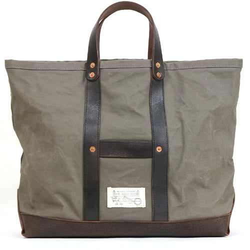 VASCO CANVAS x LEATHER TOOL BAG GRAY PARAFFIN CANVAS LARGE SIZE MADE IN JAPAN