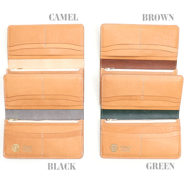 VASCO <br>LEATHER ROYAL LONG WALLET <BR>BRIDLE LEATHER <BR>4 COLORS <BR>MADE IN JAPAN <BR>