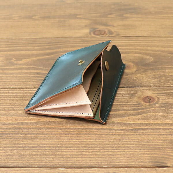 VASCO LEATHER GARRISON MINI WALLET HORWEEN SHELL CORDOVAN 3 COLORS MADE IN JAPANCard case wallet