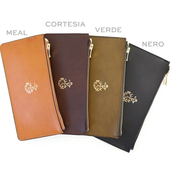 VASCO LEATHER NAVAL ZIP LONG WALLET ITALIAN LEATHER 4 COLORS MADE IN JAPAN