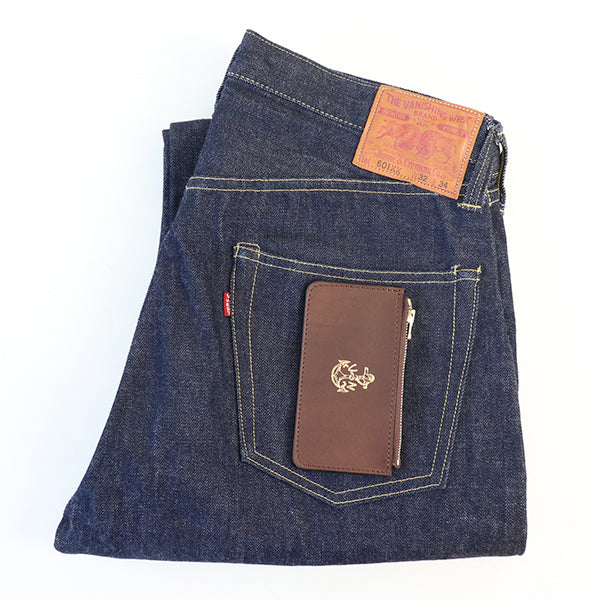 VASCO LEATHER NAVAL ZIP POCKET WALLET ITALIAN OIL LEATHER 4 COLORS MADE IN JAPAN