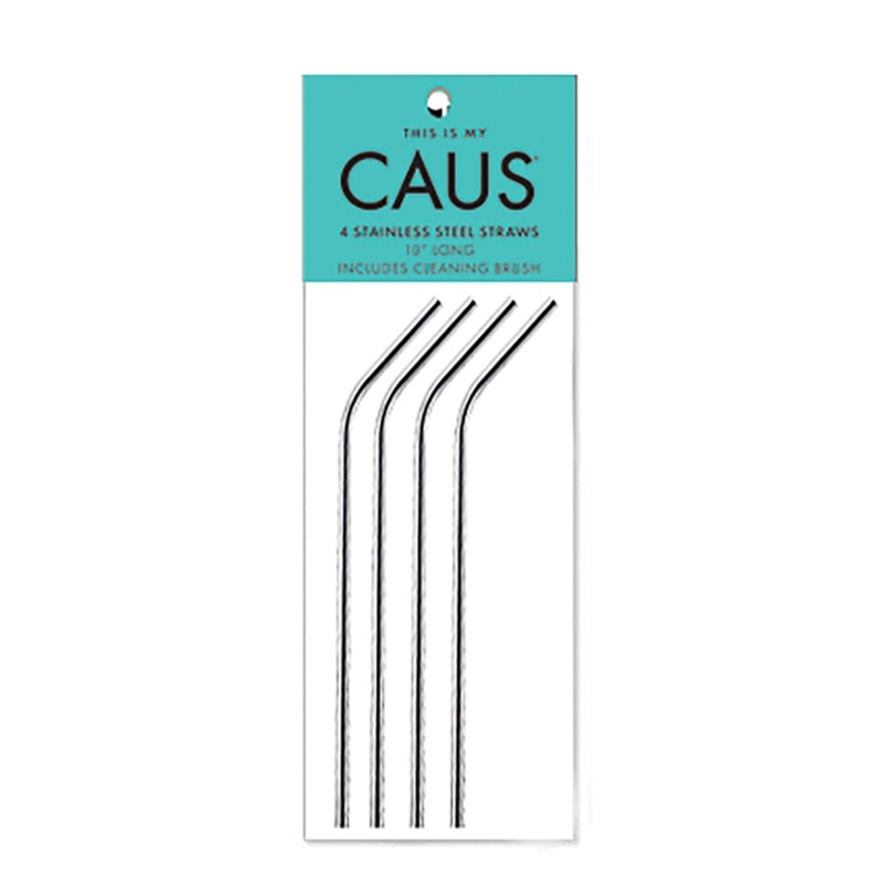 Stainless Steel Straws 4-pk