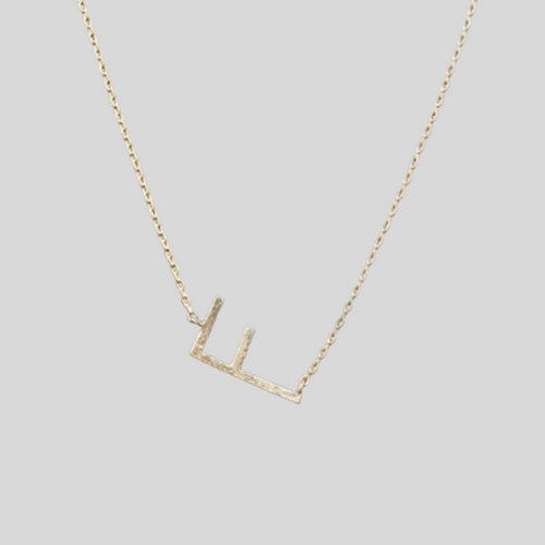 Matte Gold Initial Necklace