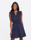Jaquard Sleeveless Popover Dress