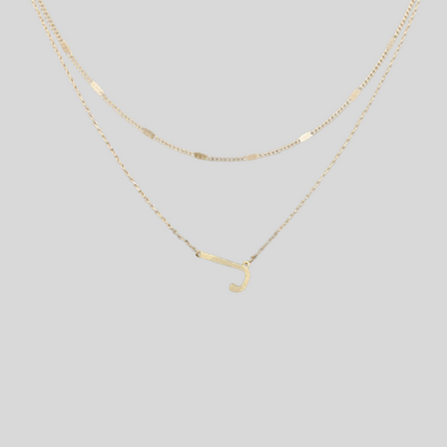 Initial Double Chain Necklace