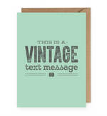 Vintage Text Message Card