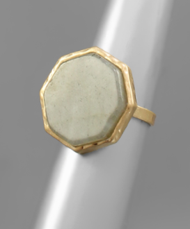 Stone Octagon Ring