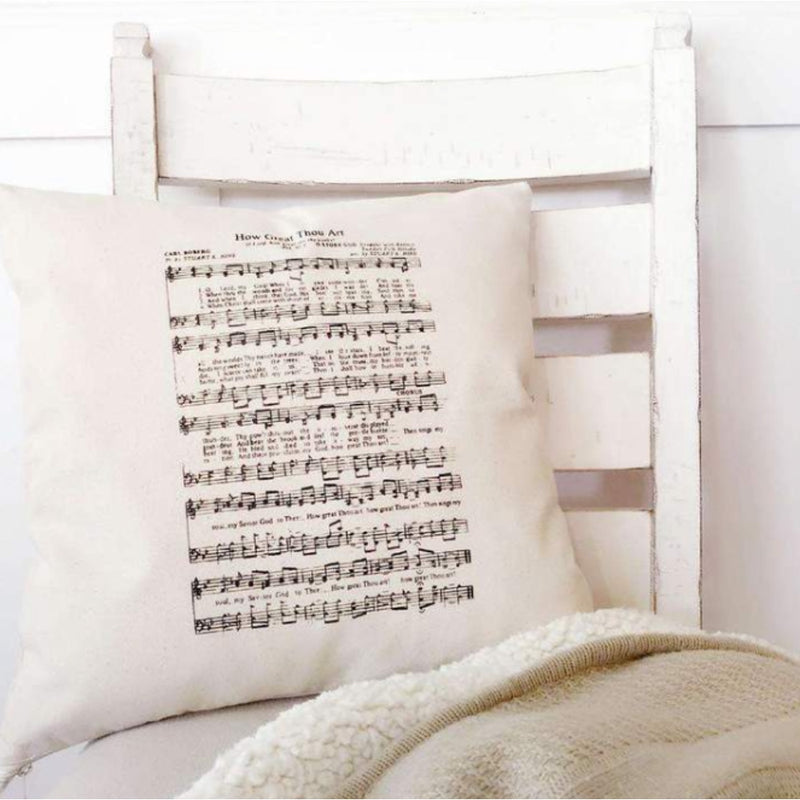 How Great Thou Art Canvas Pillow Cover