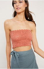 Knit Scalloped Bandeau