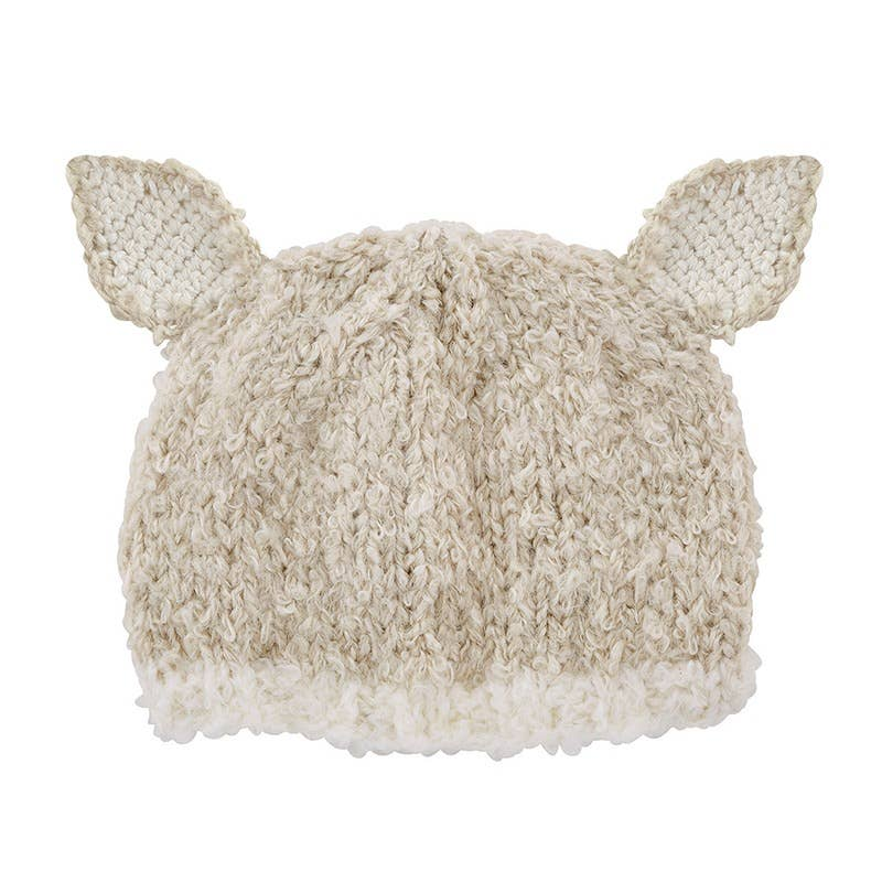 Cream Bunnie Knit Hat