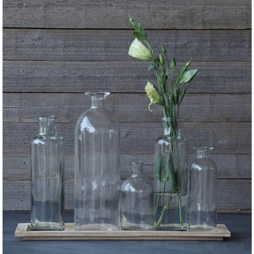 Tray with Five Glass Bottles