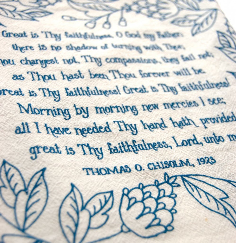 Great Is Thy Faithfulness Tea Towel