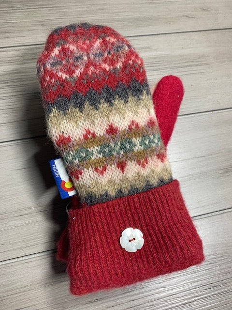 Kids Mittens Red