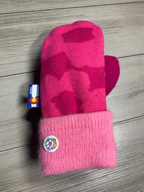 Kids Mittens Hot pink