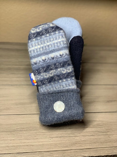 Women's Large Mittens Blue