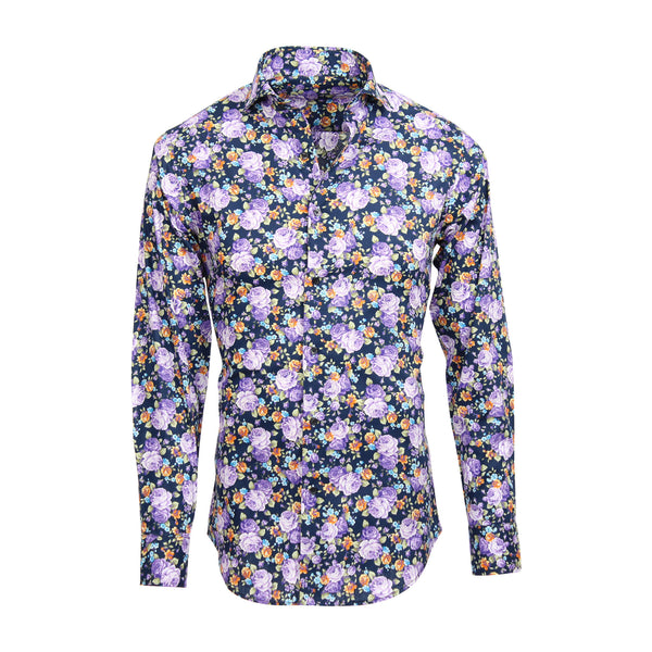 Allium Shirt moderner Blumendruck