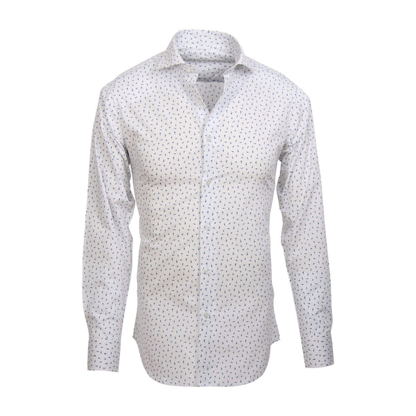 Fish print Shirt white