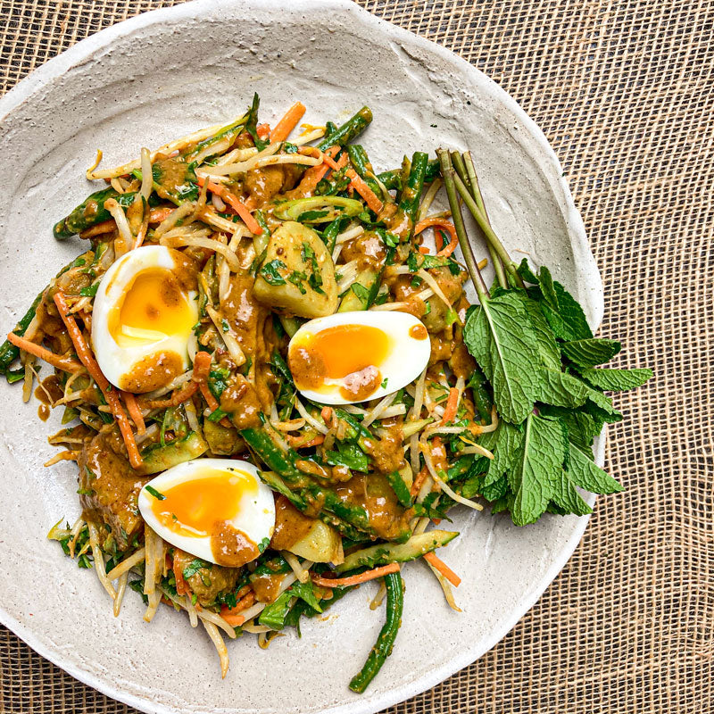 Malaysian Gado Gado salad - with a satay sauce recipe by Ping Coombes
