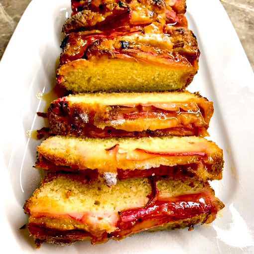 Rhubarb and Orange Drizzle Cake