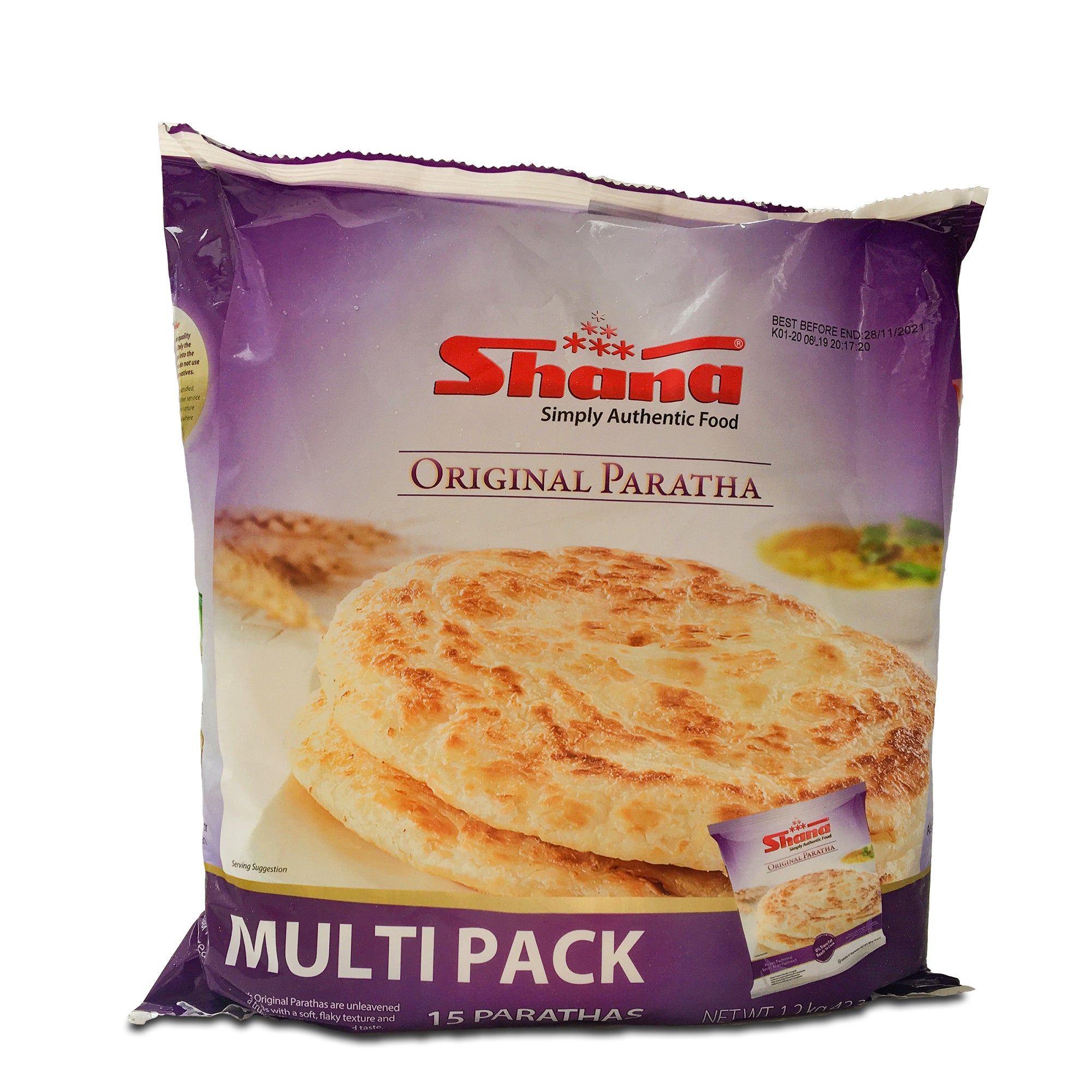 Indian Paratha Breads 15 pcs (Frozen)