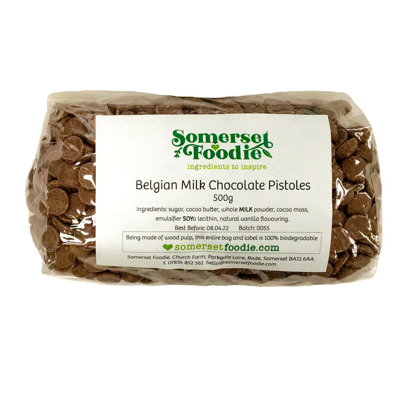 Belgian Milk Chocolate Pistoles (33%), 500g