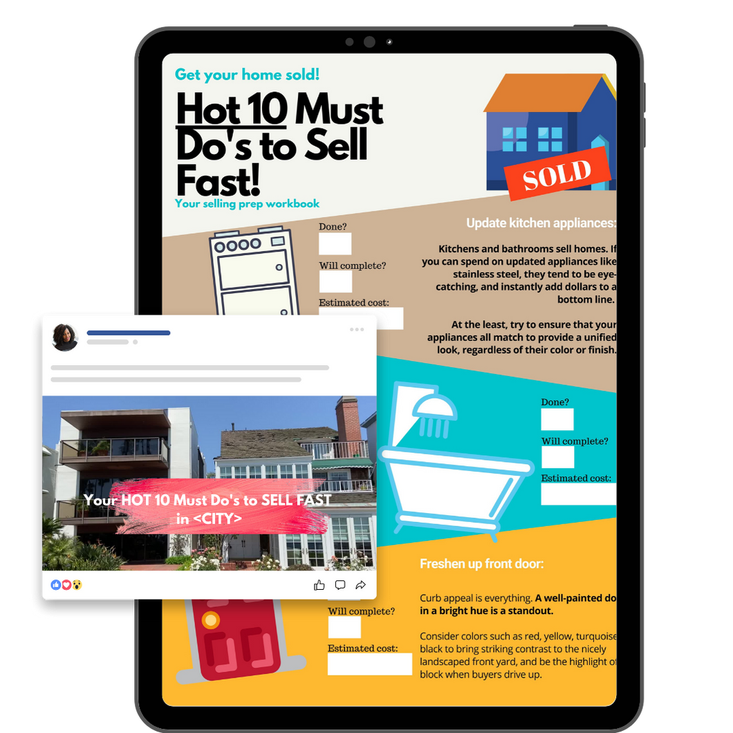 Sellers Hot 10 Checklist & Ad/Post Video Bundle (CUSTOMIZABLE)