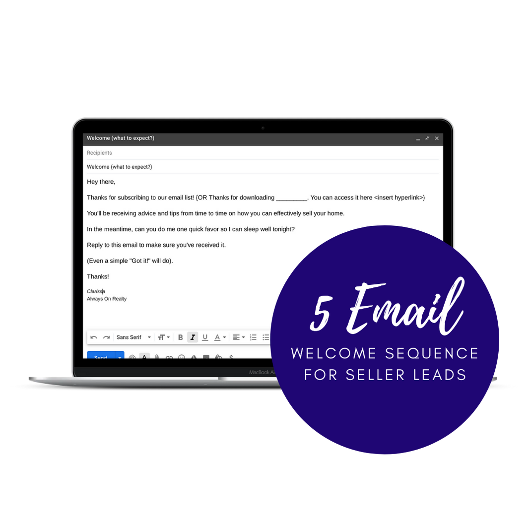 Home Seller Lead - 5 Day Email Sequence