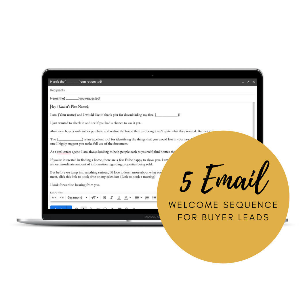 Home Buyer Lead - 5 day Email Sequence