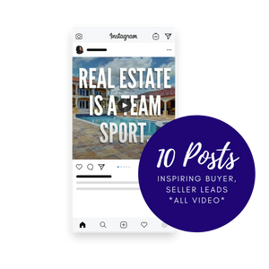 """The Inspirational Realtor"" - 10 Social Media Posts (Videos) Bundle - Facebook/Instagram"