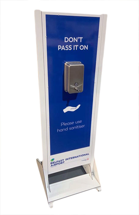 Free Standing Single Dispenser Hand Sanitising Unit