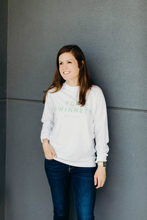 White For Gwinnett Crewneck Sweatshirt