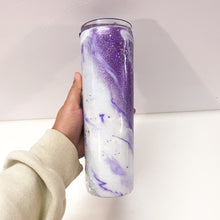 Load image into Gallery viewer, Purple Marble 30 oz Glitter Tumbler