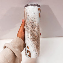 Load image into Gallery viewer, Gold Cheetah Marble 30 oz Glitter Tumbler