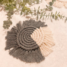 Load image into Gallery viewer, Accent Macrame Coaster - Grey