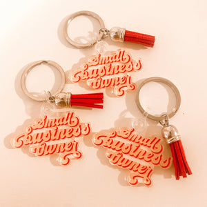 Retro Small Business Owner Keychain