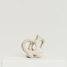 Load image into Gallery viewer, Off-white abstract knotted sculpture