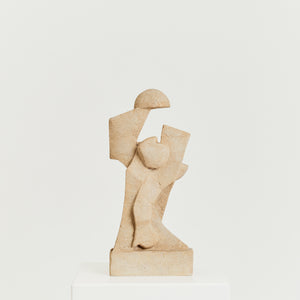 Sandstone figurative sculpture by Anthony Padgett, signed.