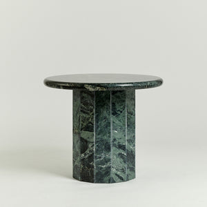Faceted marble occasional table