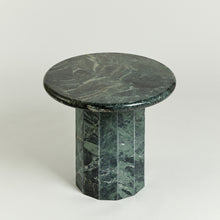 Load image into Gallery viewer, Faceted marble occasional table