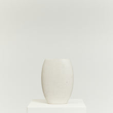 Load image into Gallery viewer, White crackle glazed studio pottery vase