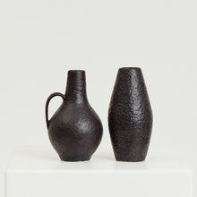 Load image into Gallery viewer, Textured black vase pair - HIRE ONLY