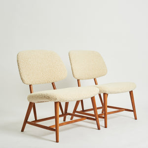 Pair of TeVe chairs by Alf Svensson for Ljungs Industrier